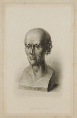 Hahnemann bust created by David von Angers 1837