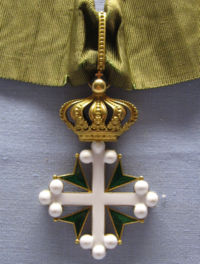 Knight of the order of St. Maurice and St. Lazarus of Italy