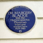 blue plaque Margery Blackie